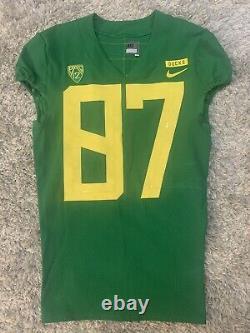 Oregon DUCKS Nike GAME WORN FOOTBALL JERSEY Ryan Bay MEN'S 40 Apple Green