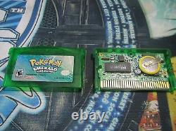 POKEMON EMERALD AUTHENTIC All 386 SHINY GAME UNLOCKED & NEW BATTERY