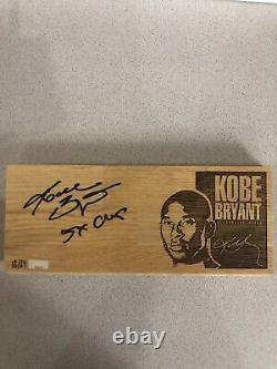 Panini Authentic Kobe Bryant Game Used Floor Auto /24 Personal Inscription