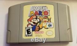 Paper Mario (Nintendo 64 N64) IN BOX VERY RARE AUTHENTIC (no manual)