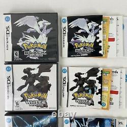 Pokemon Black 1+2 + Pokemon White 1+2 Nintendo DS LOT AUTHENTIC complete CIB