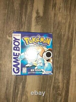 Pokemon Blue Version (Game Boy, 1998) Authentic -CIB -Tested and works