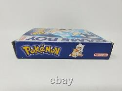 Pokemon Blue Version (Game Boy, 1998) Authentic Complete Box Manual Tested Works