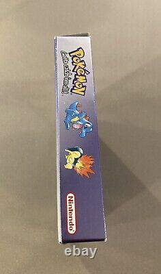 Pokemon Crystal Version (Game Boy Color, 2001) Authentic Boxed Inserts