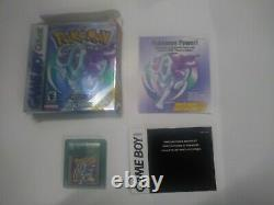 Pokemon Crystal Version (Game Boy Color, 2001) Authentic COMPLETE IN BOX