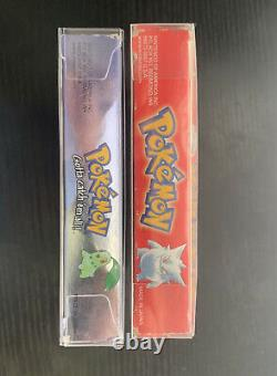 Pokemon Crystal and Red Box Gameboy Color Gbc CIB Manual Nintendo Authentic