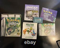 Pokemon Emerald Version (Game Boy Advance, 2005) Complete CIB Authentic