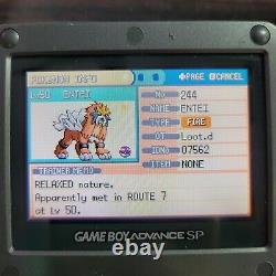 Pokemon Fire Red Authentic Enhanced All 386 Pokemon GBA Gameboy Advance