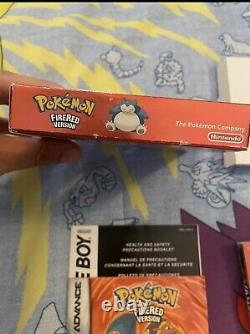 Pokemon Fire Red Version (Game Boy Advance, 2004) CIB Complete Authentic GBA Box