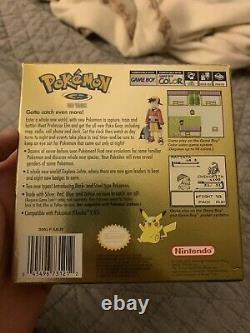 Pokemon Gold Authentic Complete In Box Nintendo Game Boy Color MINT
