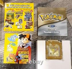 Pokemon Gold Game Boy Complete In Box CIB Authentic Excellent with Box Protector