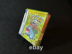 Pokemon Leaf Green Complete in Box, Authentic for Gameboy Advance, GBA, CIB