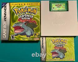 Pokemon Leaf Green Version GBA Game Boy Advance Complete in Box CIB Authentic