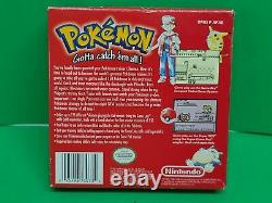Pokemon Red Version (Game Boy, 1998) Complete Authentic Mint Condition NICE