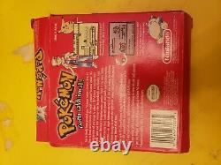 Pokemon Red Version (Game Boy, 1998) game box instructions complete authentic