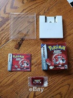 Pokemon Ruby GBA complete with box/manual, authentic, overall good condition