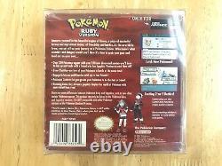Pokemon Ruby Version Authentic Complete CIB Box Manual Inserts Box Protector