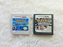 Pokemon SOUL SILVER + PLATINUM + BLACK + MORE DS/3DS LOT OF 6 AUTHENTIC GAMES