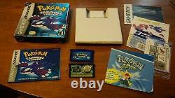 Pokemon Sapphire (Nintendo Game Boy Advance, 2002) CIB Complete In Box Authentic