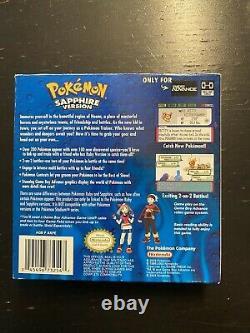 Pokemon Sapphire Version Game Boy Advance, Complete Authentic CIB GBA Free Ship