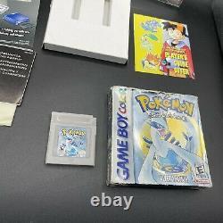 Pokemon Silver Game Boy Color GBC Complete In Box CIB AUTHENTIC No Save