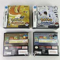 Pokemon SoulSilver & HeartGold Version With Big Box Pokewalker Authentic Cib