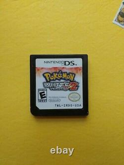 Pokemon White 2 Version (Nintendo DS) Authentic game cart Tested