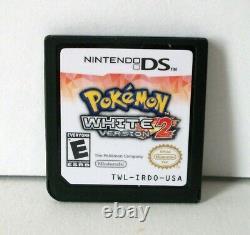 Pokemon White Version 2 Nintendo DS Good Label Game Case Authentic Cartridge RPG