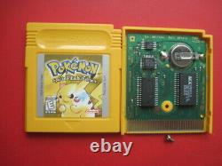 Pokemon Yellow Version Special Pikachu Ed Game Boy Authentic & Saves