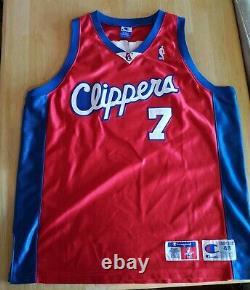 RARE AUTHENTIC NBA GAME JERSEY Champion LA Clippers Lamar Odom Sz 48