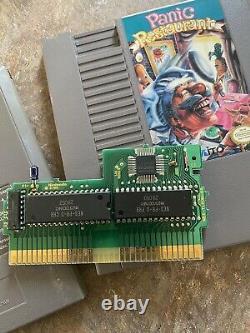 RARE Panic Restaurant Cart Only Nintendo NES EXCELLENT CONDITION Authentic