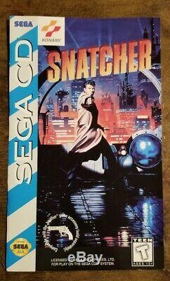 RARE! Snatcher (Sega Genesis CD) AUTHENTIC