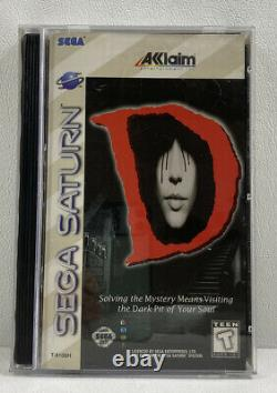 RARE VINTAGE D (Sega Saturn, 1996) Complete Authentic Game with REG CARD TESTED