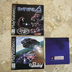 R TYPE DELTA + XEVIOUS 3D/G+ Playstation PS1 USA Authentic 100% Complete RARE