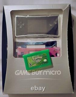 Rare Nintendo Game Boy Micro CIB Complete Box FREE AUTHENTIC POKÉMON LEAF GREEN