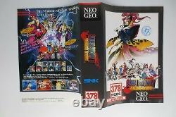 Rare Samurai Shodown Spirits IV 4 Authentic USA Neo Geo Aes Cartridge Complete