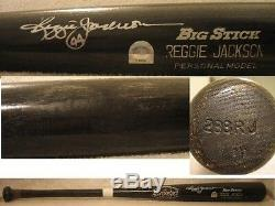 Reggie Jackson Game Used & Signed Rawlings MLB Authenticated Bat (Yankees)