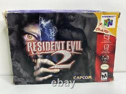 Resident Evil 2 (Nintendo 64, N64) - Authentic - Complete in Box - Tested