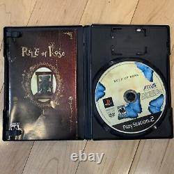 Rule of Rose (Sony PlayStation 2 PS2) Complete CIB Authentic MINT Atlus USA NTSC