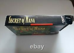 Secret of Mana (Super Nintendo SNES, 1993) CIB AUTHENTIC NICE