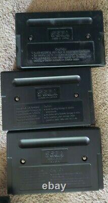 Sega Genesis Streets Of Rage 1 2 3 Trilogy Complete CIB Authentic Rare Vintage