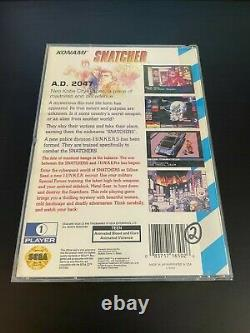 Snatcher Sega CD 100% Original Authentic Complete In Box with Case Manual Game