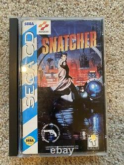 Snatcher (Sega CD) Complete Authentic 1994