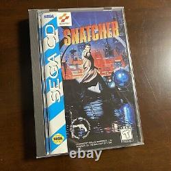 Snatcher US 1994 Sega CD with Box Manual Authentic Rare Great Shape
