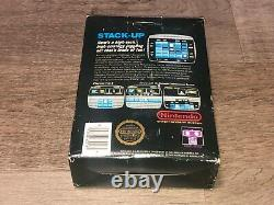 Stack Up Complete Nintendo Nes Complete CIB Hang Tab Authentic