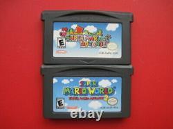 Super Mario Advance 1 2 3 4 Luigi Kart Game Boy Advance Lot Authentic & Saves