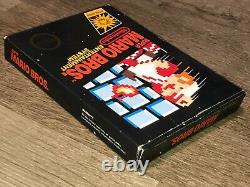 Super Mario Bros. Nintendo Nes Box Only No Game No Rev-A Hangtab Authentic