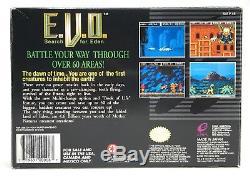 Super Nintendo SNES EVO E. V. O. Search For Eden Box + Tray Authentic No Game
