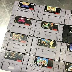 Super Nintendo SNES Games Lot Of 12 Authentic Entertainment System (TESTED)