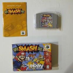 Super Smash Bros. Nintendo 64 Complete in Box CIB! Authentic & tested